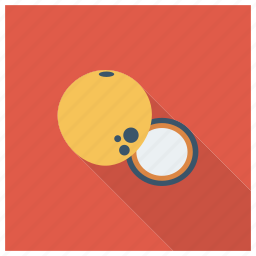 chairs, coconut, coconutslice, cooking, drink, food, fruit icon