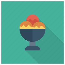 colorful, cream, cup, food, ice, sweet, tasty icon