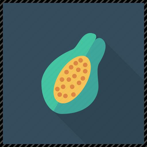 food, fresh, fruit, half, papaya, sweet, vegetable icon