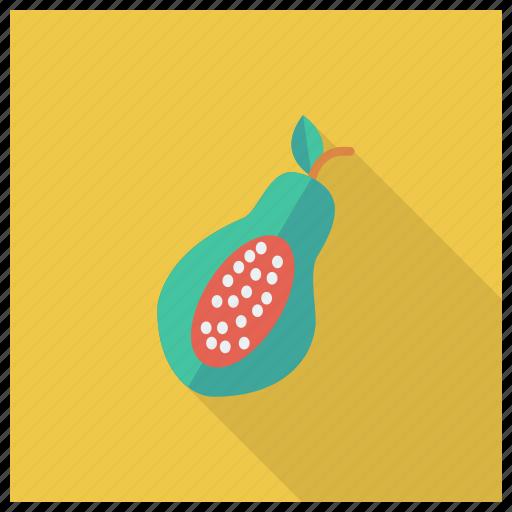 eat, fresh, fruit, half, papaya, sweet, vegetable icon