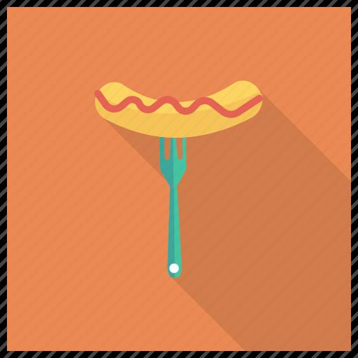 cooking, eat, fast, fastfood, hotdog, restaurant, sausage icon