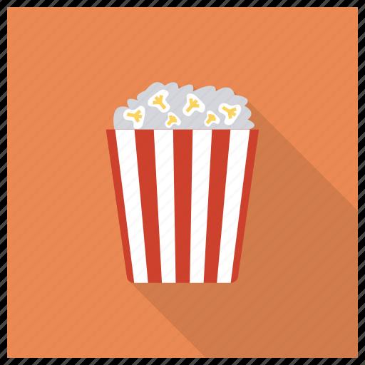 cinema, corn, film, food, movie, popcorn, vegetable icon