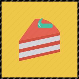 birthday, cake, celebration, cherry, cupcake, food, valentine icon