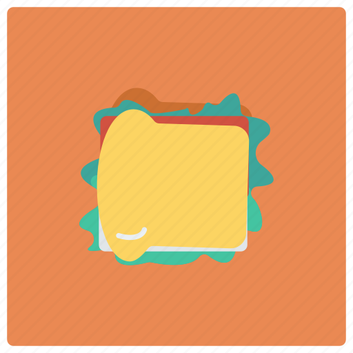 bread, cheese, fast, food, lunch, restaurant, sandwich icon