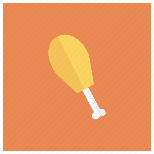 chicken, drumstick, food, leg, meals, poultry, stick icon