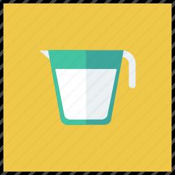 drink, food, jug, kitchen, milk, pot, utensil icon