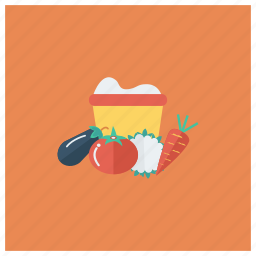 cabbage, carrot, food, fruit, healthy, pepper, vegetables icon