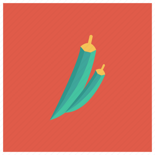 bhindi, finger, food, ladies, ochro, okra, vegetable icon