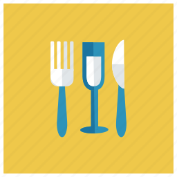 drink, fork, glass, juice, knife, orange, wine icon