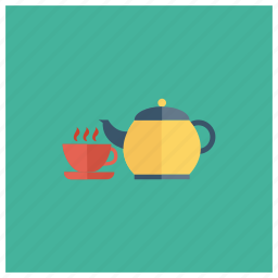 coffee, cup, drink, tea, teacup, teapot, teatime icon