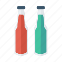 alcohol, bottle, cola, juice, nutrition, water, wine icon