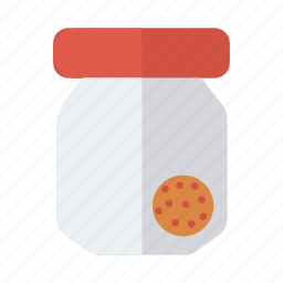 bowl, box, brownies, cookies, cookiesbox, jar, present icon