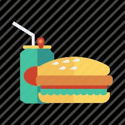 burger, cheeseburger, coke, drink, fastfood, food, hamburger icon