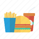 burger, coke, drink, fastfood, food, fries, hamburger