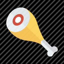 chicken, chickenleg, chickenpiece, drumstick, leg, meat, piece icon