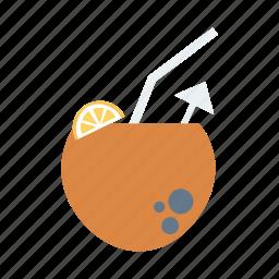 beach, coco, coconut, drink, fruit, nut, summer icon