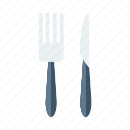 cook, cutlery, food, fork, kitchen, knife, restaurant icon