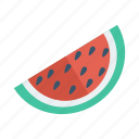 food, fruit, melon, season, slice, summer, watermellon icon