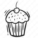 cake, food, fruits icon