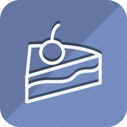 appliance, cake with chree, cooking, food, gastronomy, kitchen, utensils icon