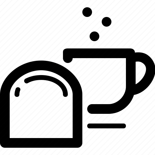 bread, breakfast, cup, drink, food, tea icon