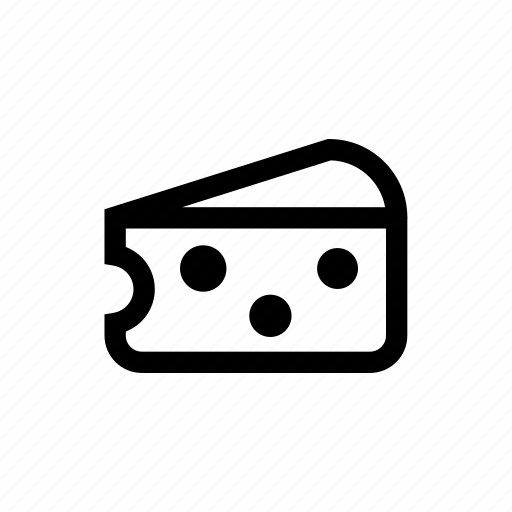 cheese, food, ingredient, piece, slice icon