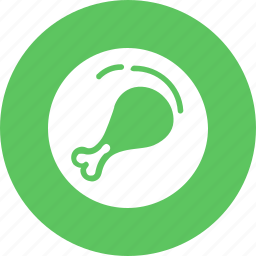 chicken, drumstick, food, kitchen, nonveg, piece, turkey icon