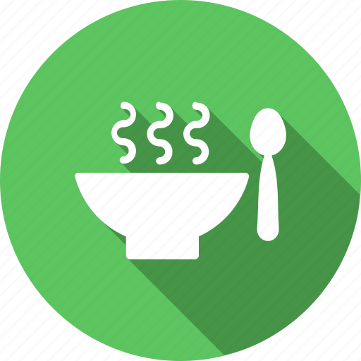 bowl, drink, food, healthy, hot, soup, spoon icon