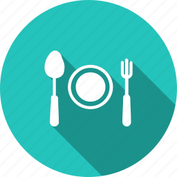 egg, food, fork, kitchen, plate, recipe, spoon icon