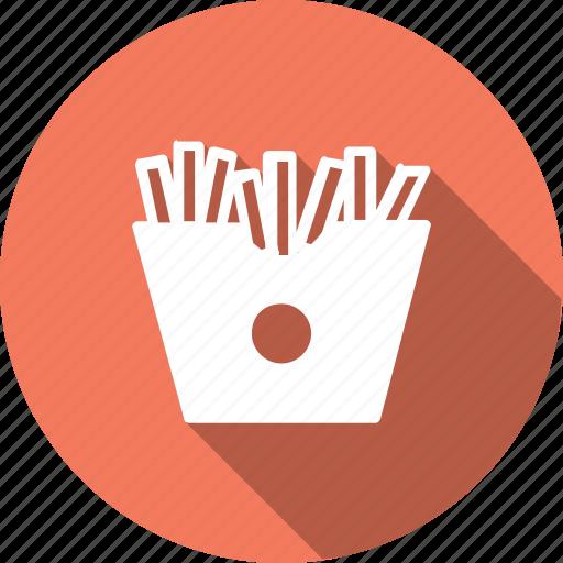 crispy, food, french, fries, kitchen, potato, sncak icon