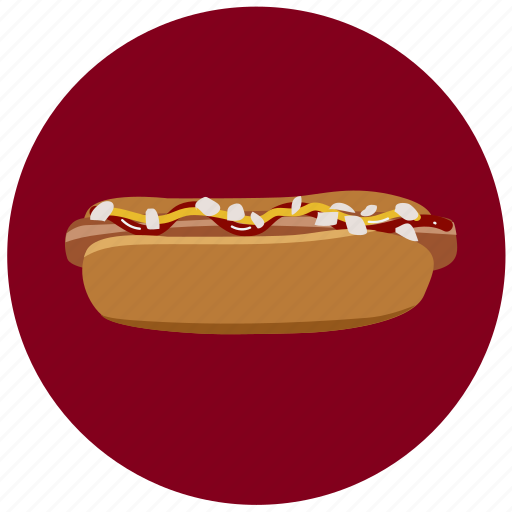 beef, dog, food, hot, hot dog, sausage icon