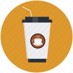 beverage, cafe, cappuccino, coffee, container, cup, disposable icon