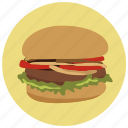 beef, burger, dinner, food, hamburger, ketchup, lunch icon