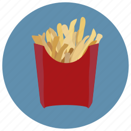 chips, eating, food, french, fries, hot, lunch icon
