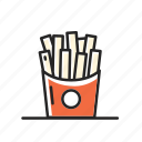 chips, cooking, eating, fast food, french, fries, mcdonal, potato icon