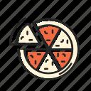 eating, food, italian, italy, pasta, pizza, restaurant icon