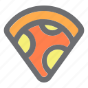 fast food, food, meal, pizza icon
