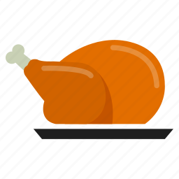 chicken, cook, eat, food, grill, meal icon