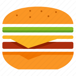 cook, eat, fastfood, food, hamburger, meal icon