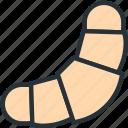 croissant, food icon