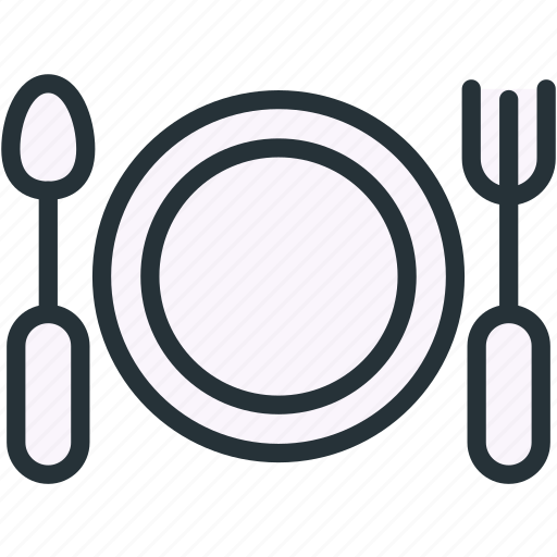 dish, food, fork, plate, spoon icon
