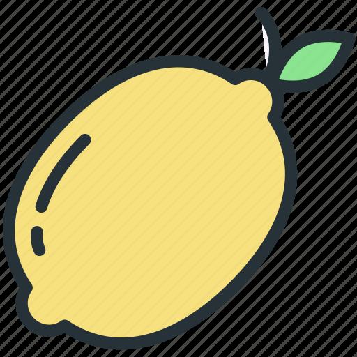food, fruit, lemon icon