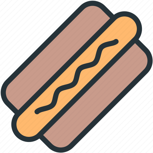 food, hotdog icon