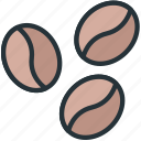 coffee, food, grains icon