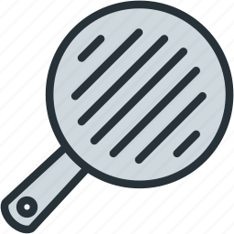 food, grill, pan icon