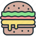 burger, food icon