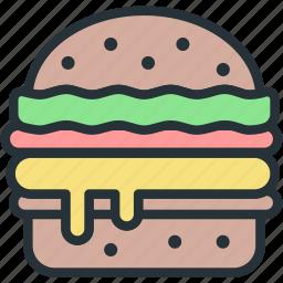 burger, food icon