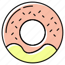 bakery, breakfast, cake, cookie, donut, doughnut, pastry icon