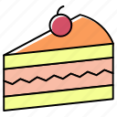 bakery, cake, dessert, food, muffin, pastry, red cherry