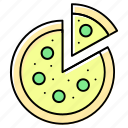 cheese, dinner, eat, fast food, italian food, pizza, restaurant icon